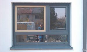 Schüco Fenster Kunststoff mit Aluminium Deckschale zweifarbig pulverbeschichtet