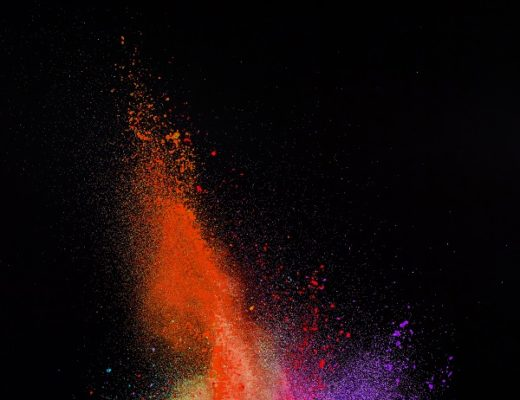 Eingefangene Farbexplosion