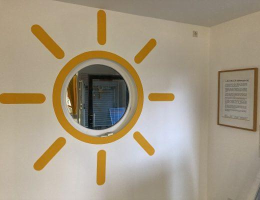 Sonne zur Ausstellungseröffnung